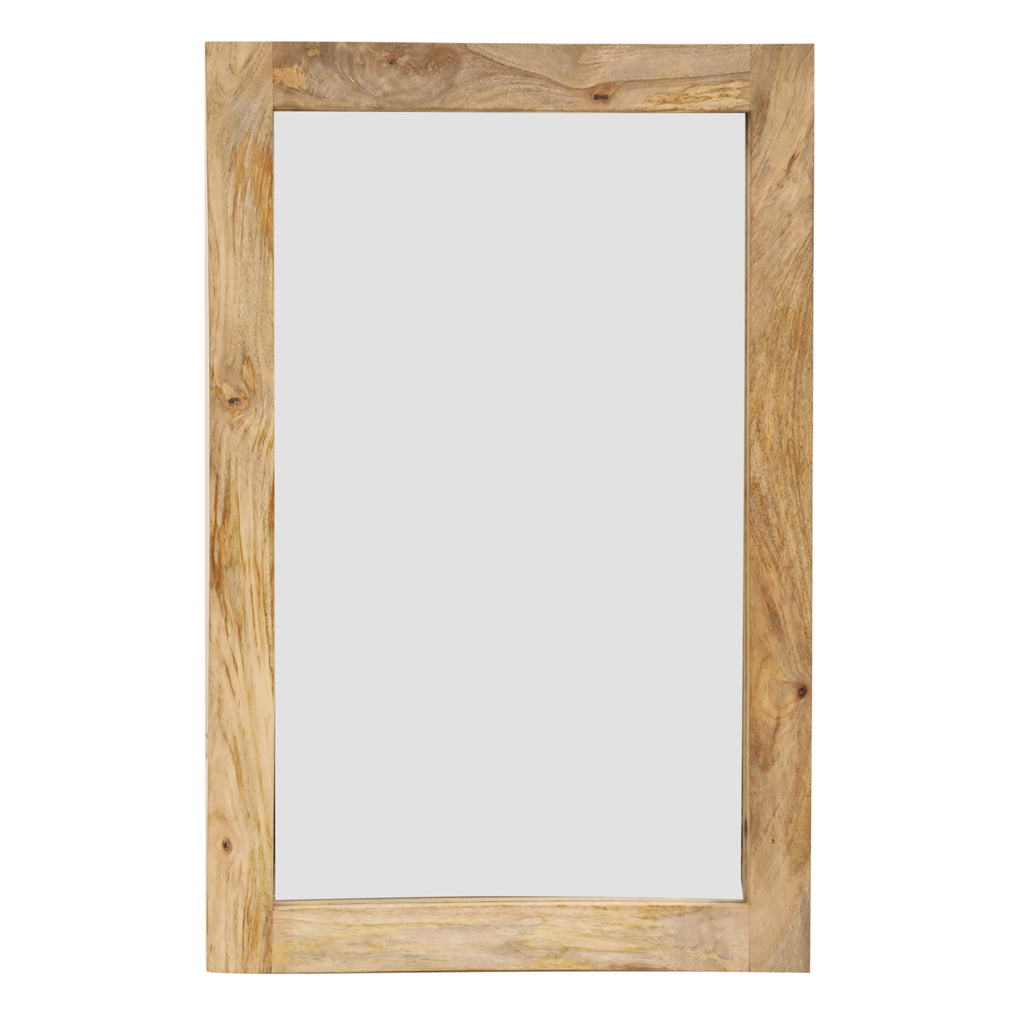 Newhalen Rectangle Wooden Mirror Natural-Bibilo