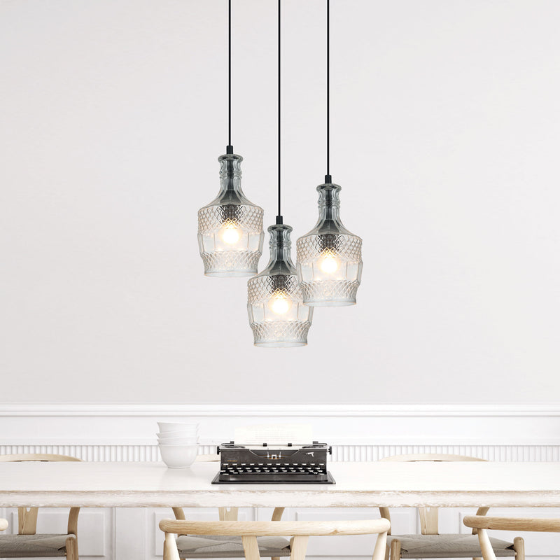 Decant 3 Glass Pendant-Bibilo
