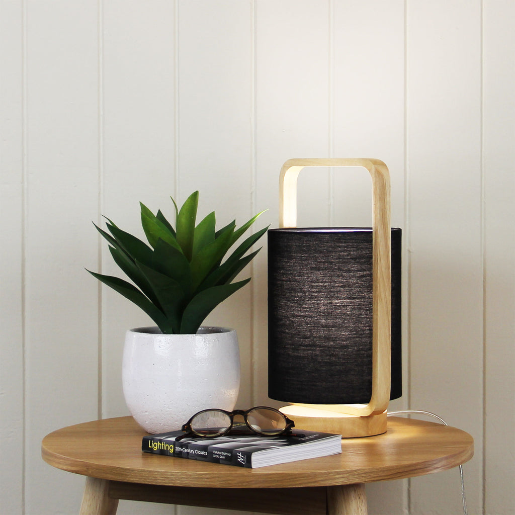 Lucia Table Lamp Black-Bibilo