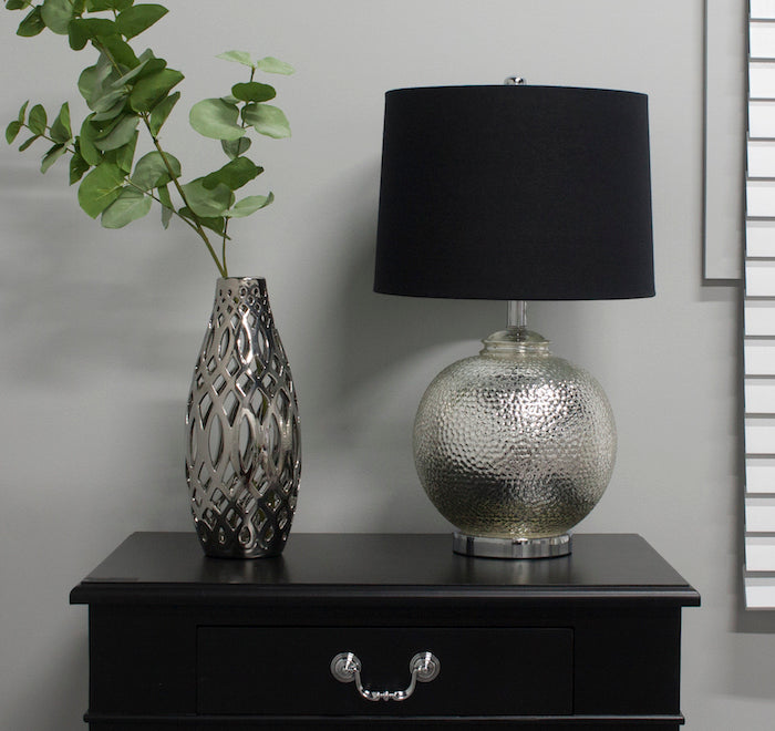 Omah Table Lamp Silver/Black-Bibilo