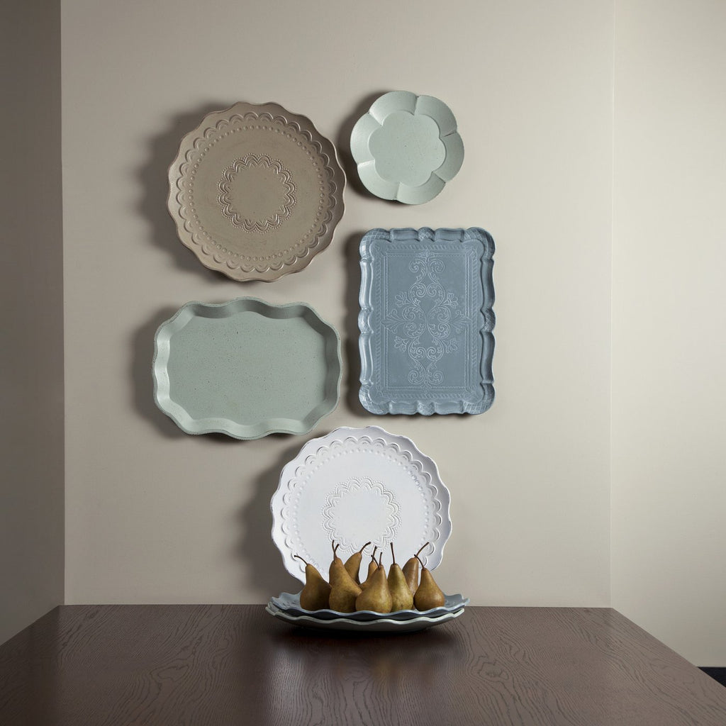 Flora Oval Tray Taupe-Bibilo