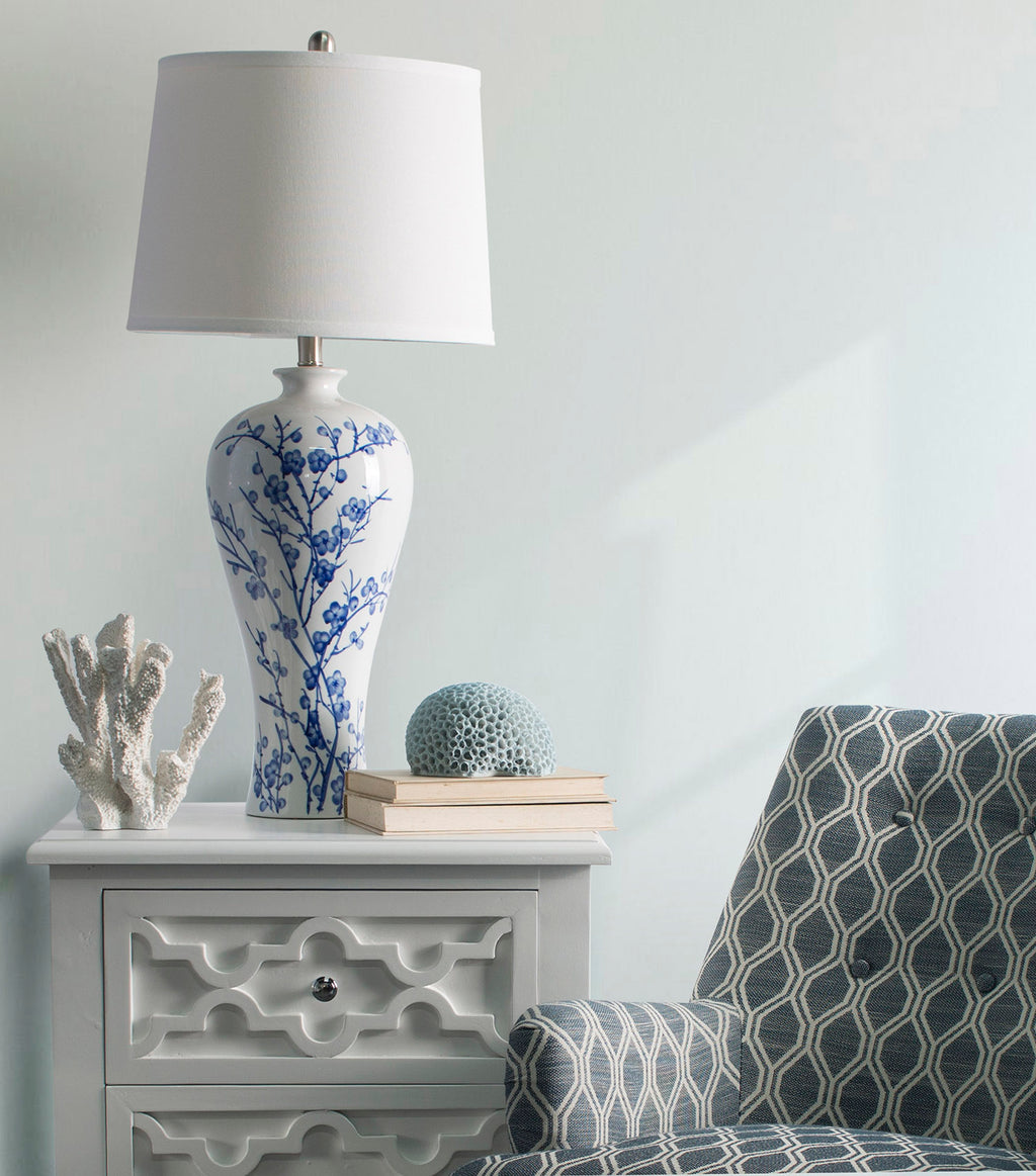 Provincial Table Lamp White/Blue-Bibilo