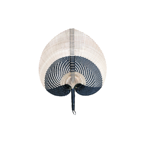 Shibori Large Fan Black/Natural-Bibilo