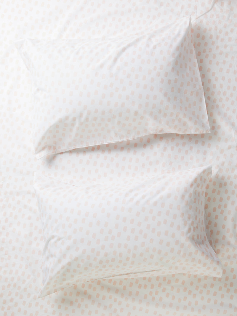 Stroke Of Luck Flat Sheet - White/Blossom-Bibilo