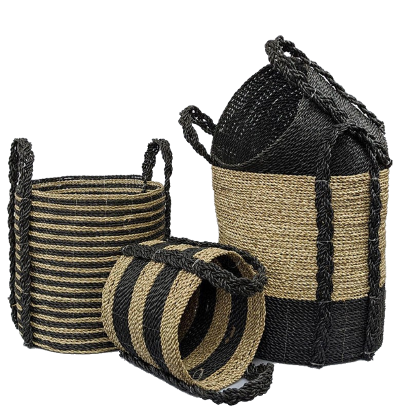 Haven Baskets Set of 4 Black-Bibilo