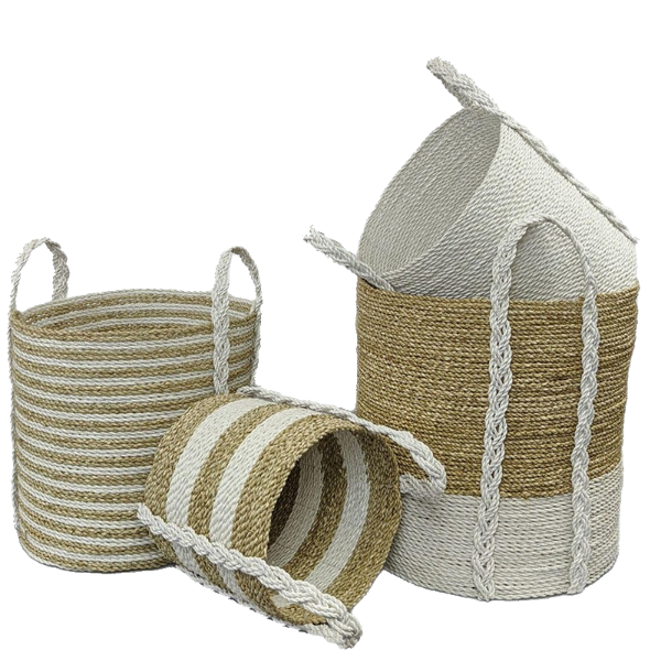 Haven Baskets Set of 4 White-Bibilo