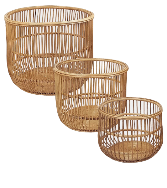 Chios Baskets Set of 3 Natural-Bibilo