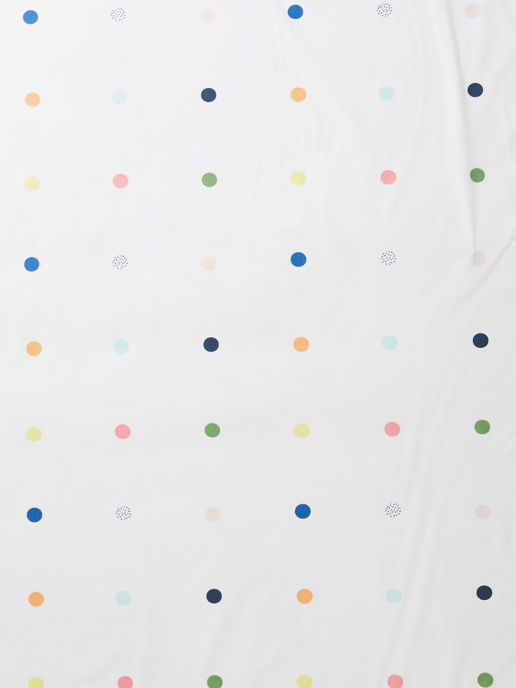 Spot & Dot Fitted Sheet - White/Multi-Bibilo