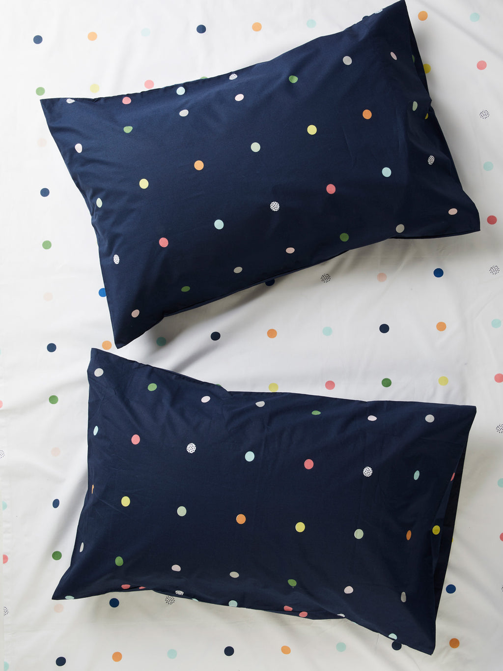 Spot & Dot Set of 2 Pillowcases - Night Sky-Bibilo