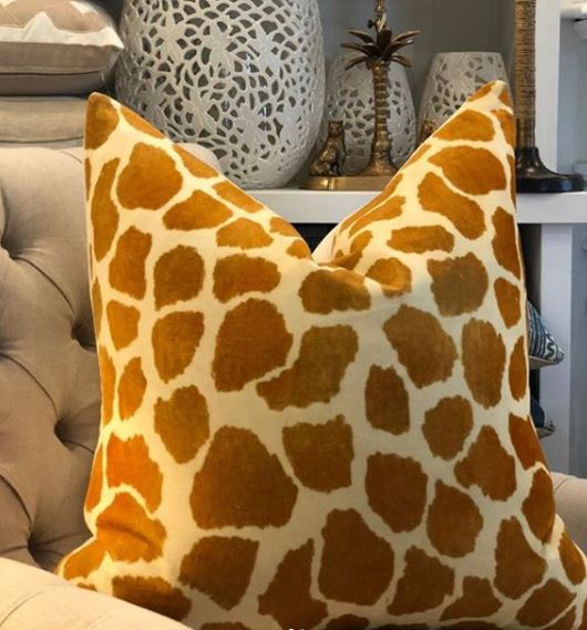 Safari Giraffe 65cm Cushion Cover-Bibilo
