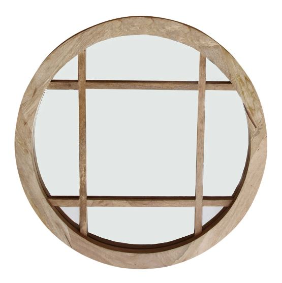 Tundra Round Wooden Mirror Natural-Bibilo