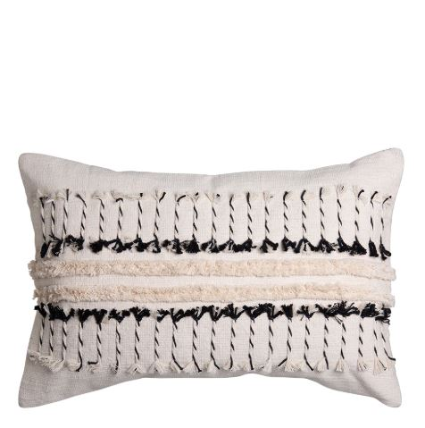 Vera Rectangle Cushion Natural/Black Set of 2-Bibilo