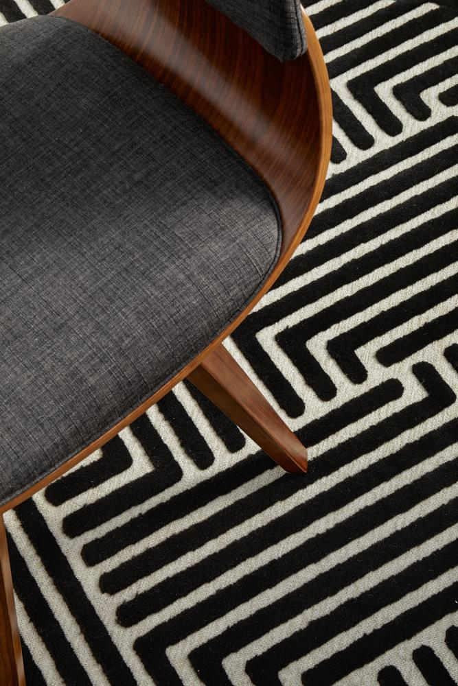 Cindy Black & Gold Rug-Bibilo