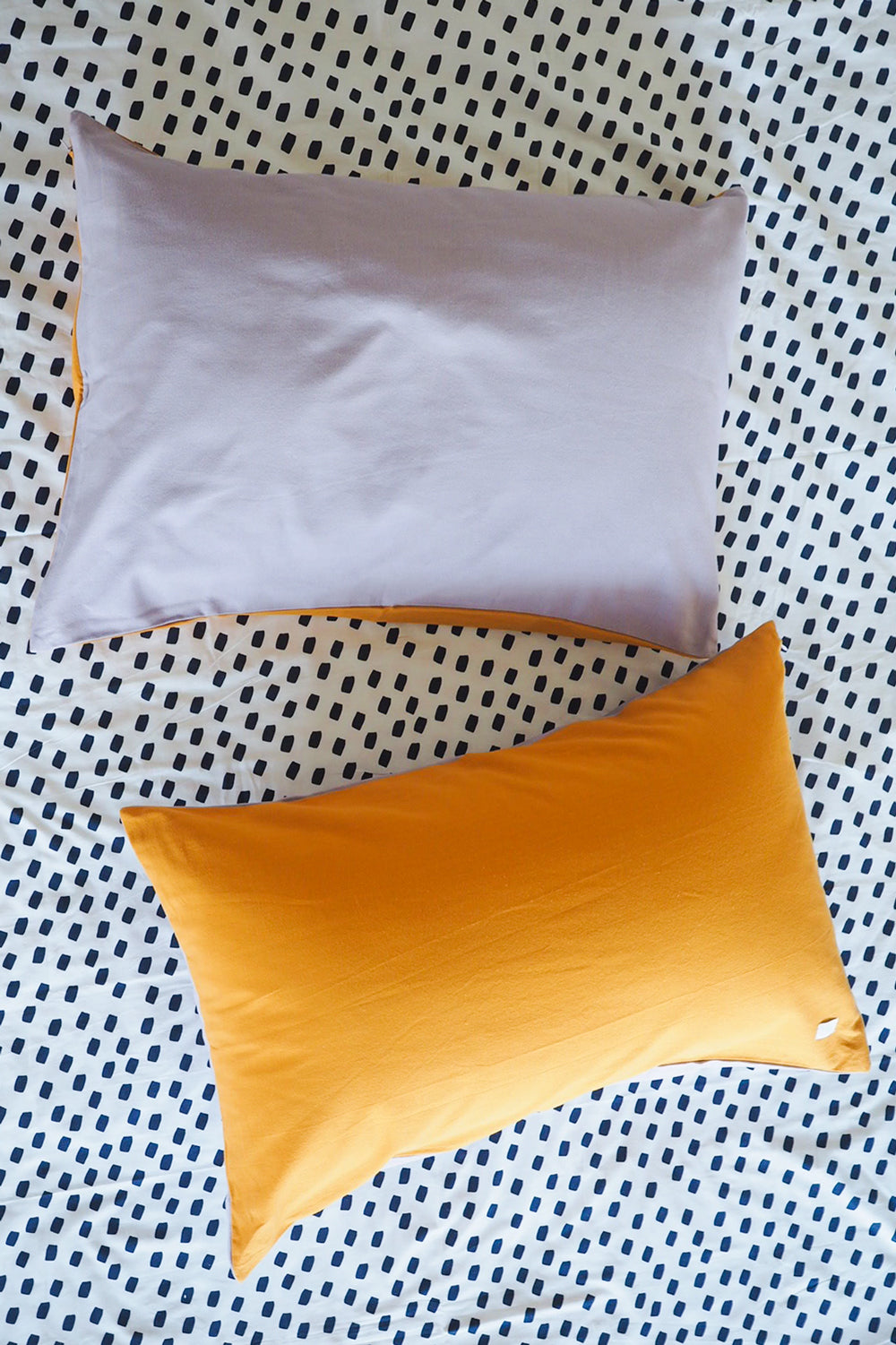 Chambray Single Pillowcase - Golden Sun/Dusty Lilac-Bibilo