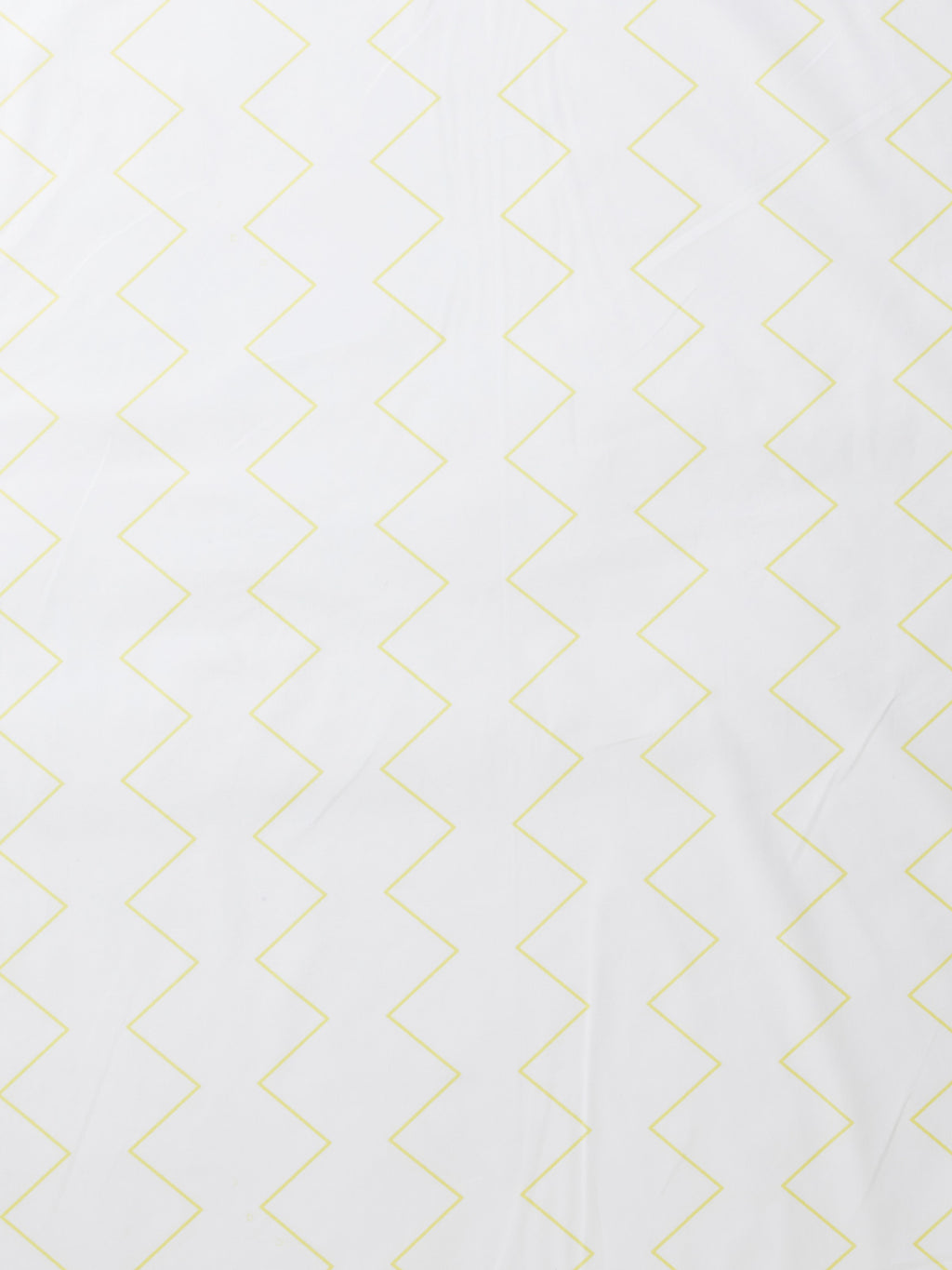 Zig & Zag Fitted Sheet - White/Sunshine-Bibilo