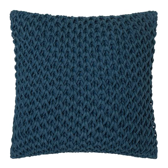 Zara Square Handknit 50cm Cushion Teal Set if 2-Bibilo