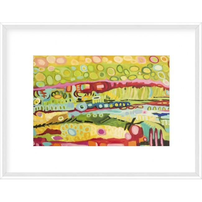 Abstract Bohemian Framed Print-Bibilo