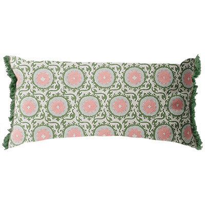 Parterre Rectangle Cushion Pink Set of 2-Bibilo