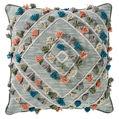 Medina Square 50cm Cushion Sage Set of 2-Bibilo