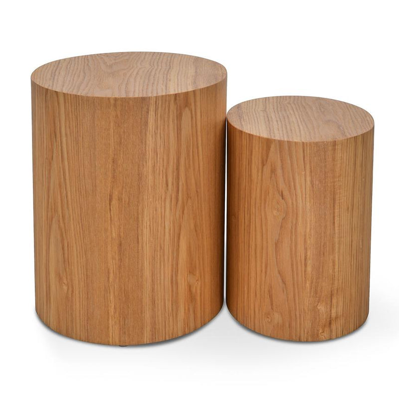 Ovo Side Tables Set of 2 Natural-Bibilo