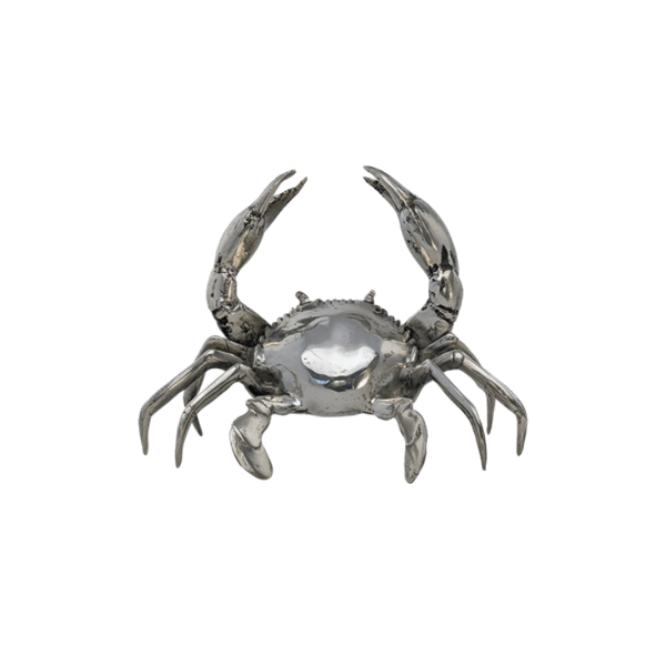 Mr Pinchy Crab Medium Silver-Bibilo