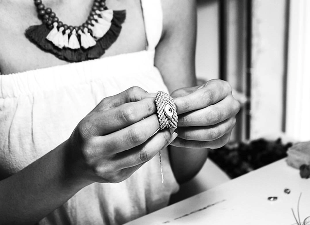 Faith Handmade Ring Grey-Bibilo