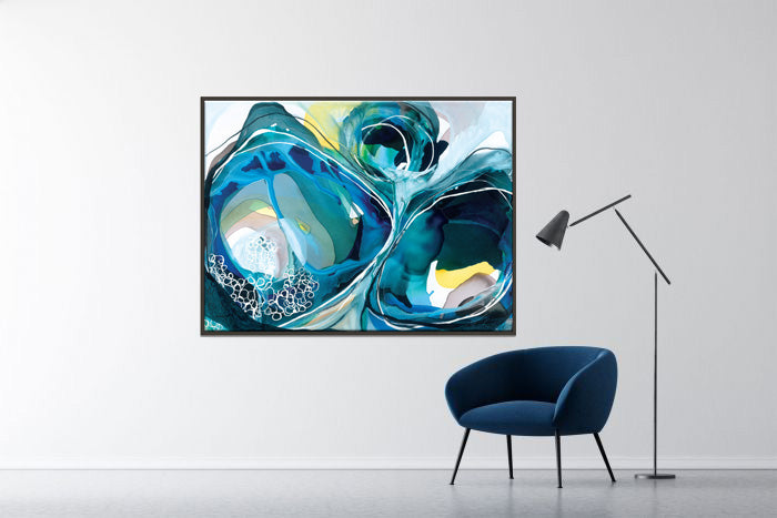Tidal Shift Framed Canvas Print by Lara Scolari-Bibilo
