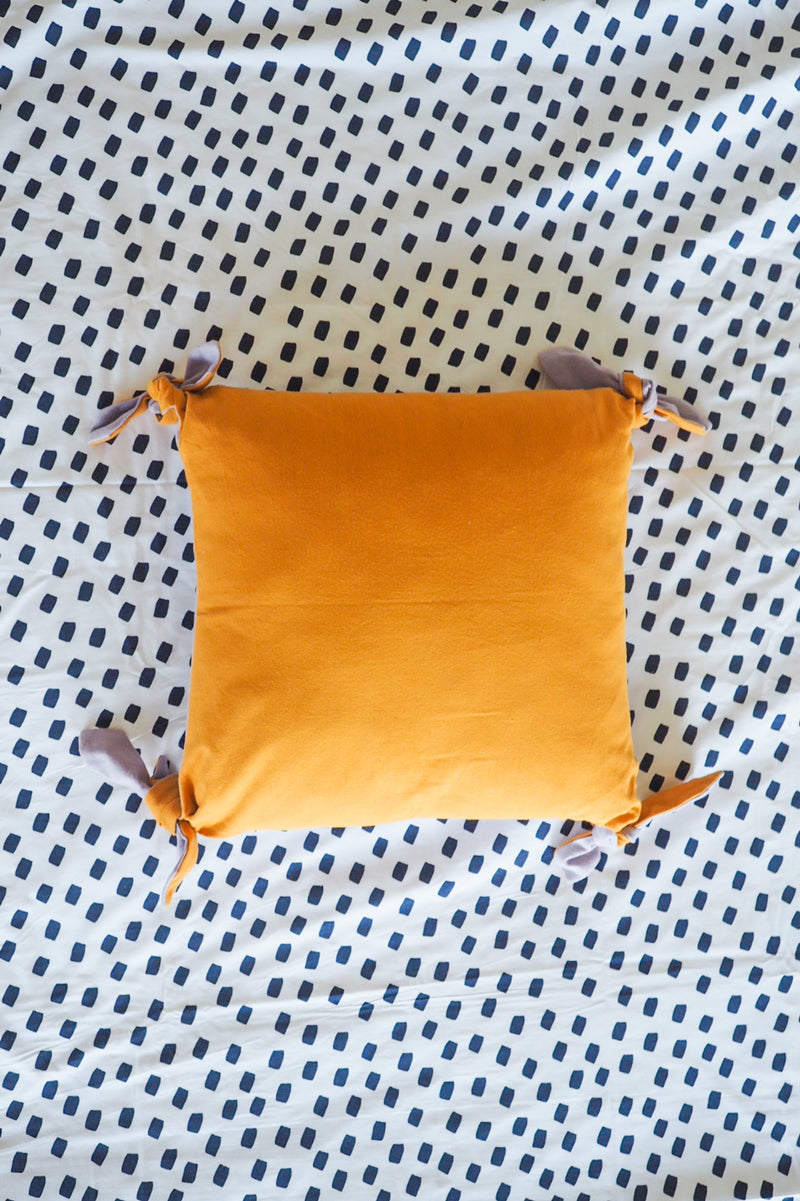 Tie Me Up 41cm Cushion Cover Golden Sun/Dusky Lilac-Bibilo
