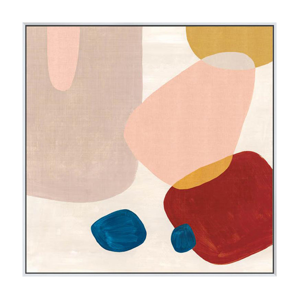 Pink Pebbles III Framed Canvas Print-Bibilo
