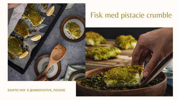 Fisk med pistacie crumble