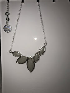 Leaf Necklace Silver