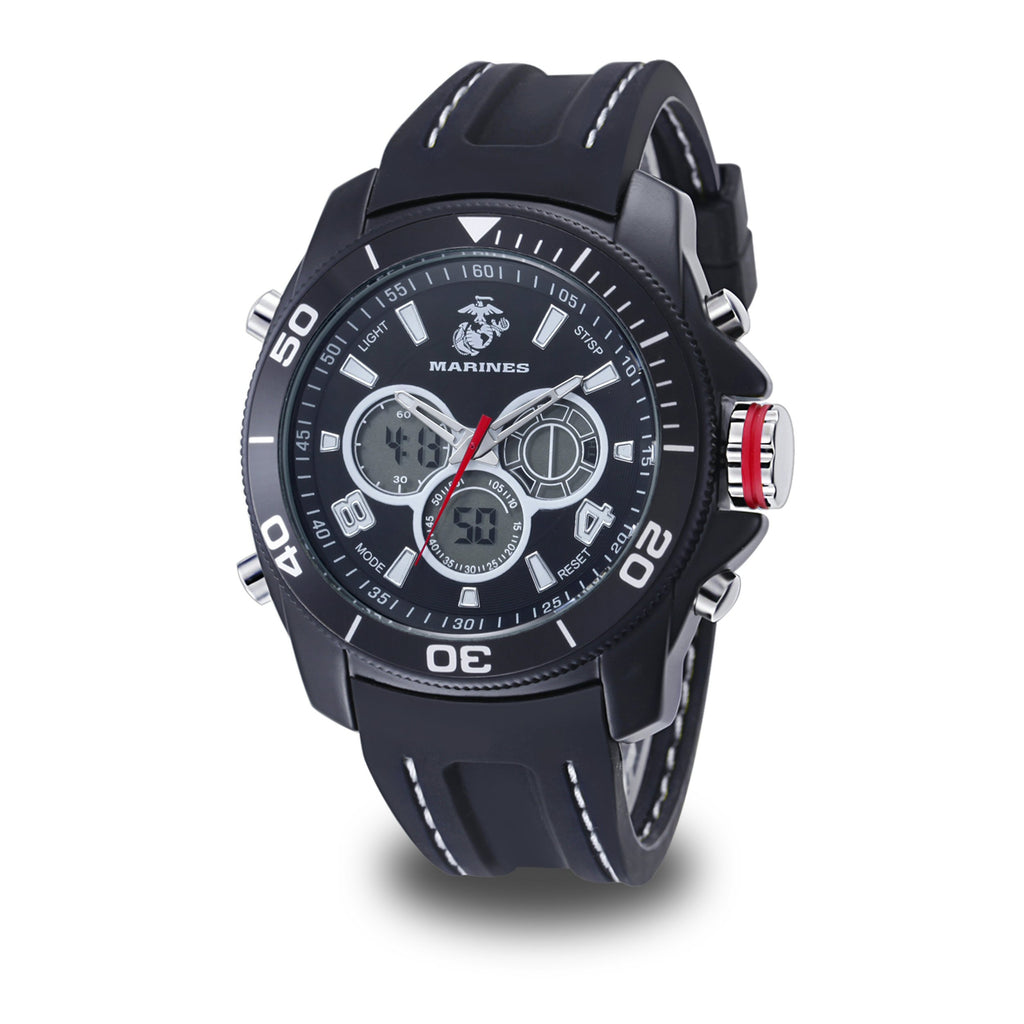 U.S. Marine Corps C29 | Analog-Digital Display Quartz Multi-function Watch