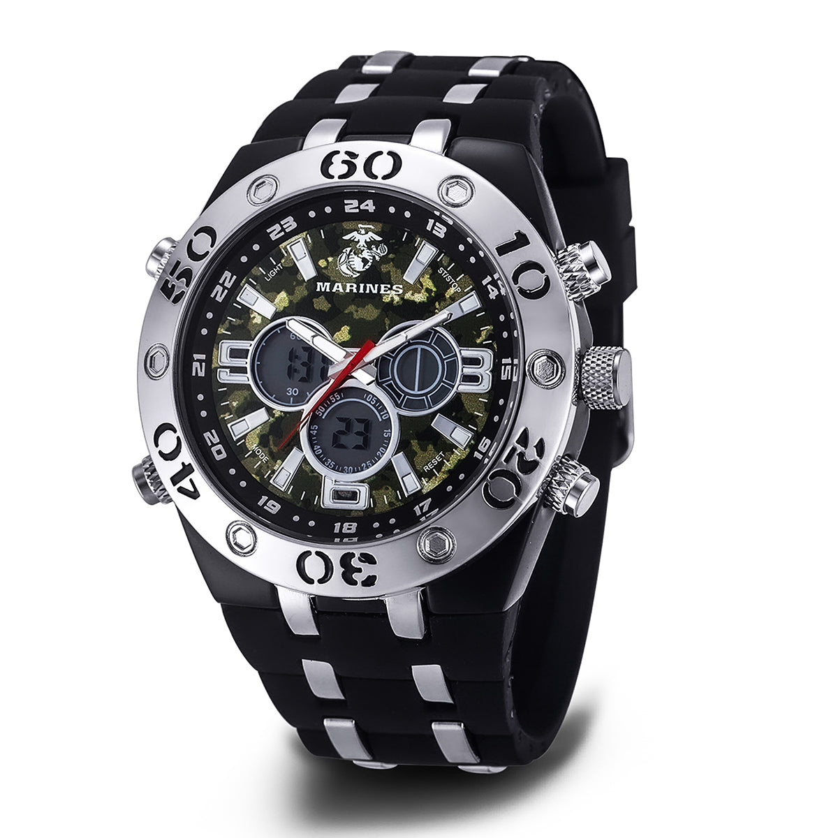U.S. Marine Corps C23 | Analog-Digital Display Multifunction Quartz Watch with Camouflage Dial