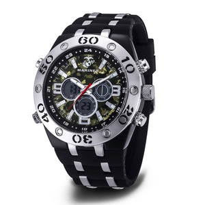Men's U.S. Marine Corps 37100050 C23 Analog-Digital Display Multifunction Quartz Watch with Camouflage Dial