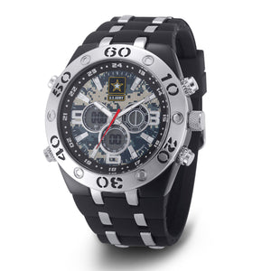 Men's U.S. Army 37200041 C23 Analog-Digital Display Multifunction Quartz Watch with Camouflage Dial