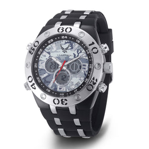 Men's U.S. Air Force 37300034 C23 Analog-Digital Display Multifunction Quartz Watch with Camouflage Dial