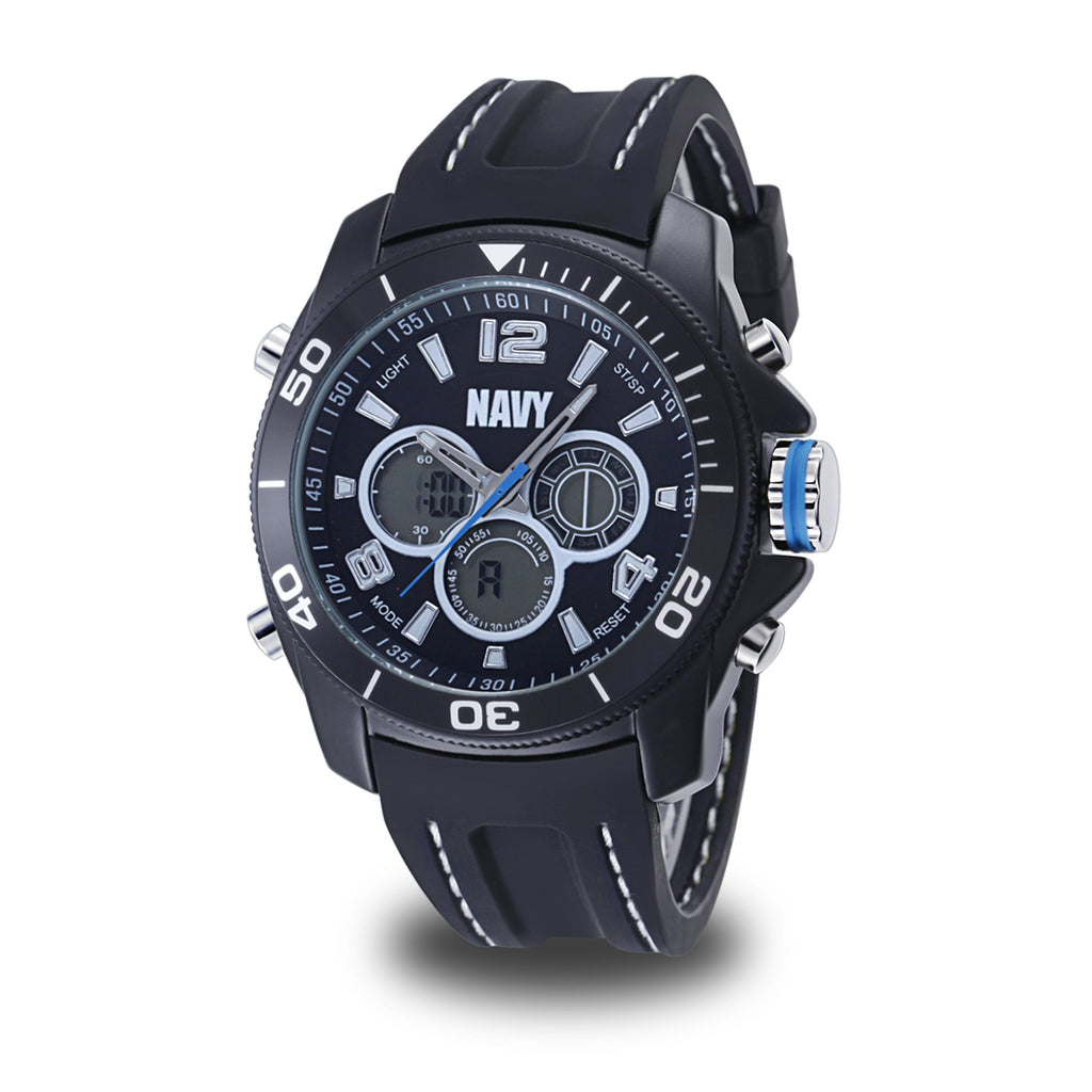 Men's U.S. Navy 37400009 C29 Analog-Digital Display Quartz Multi-function Watch