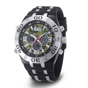 Men's U.S. Navy F4/1050 C23 Analog-Digital Display Multifunction Quartz Watch with Camouflage Dial