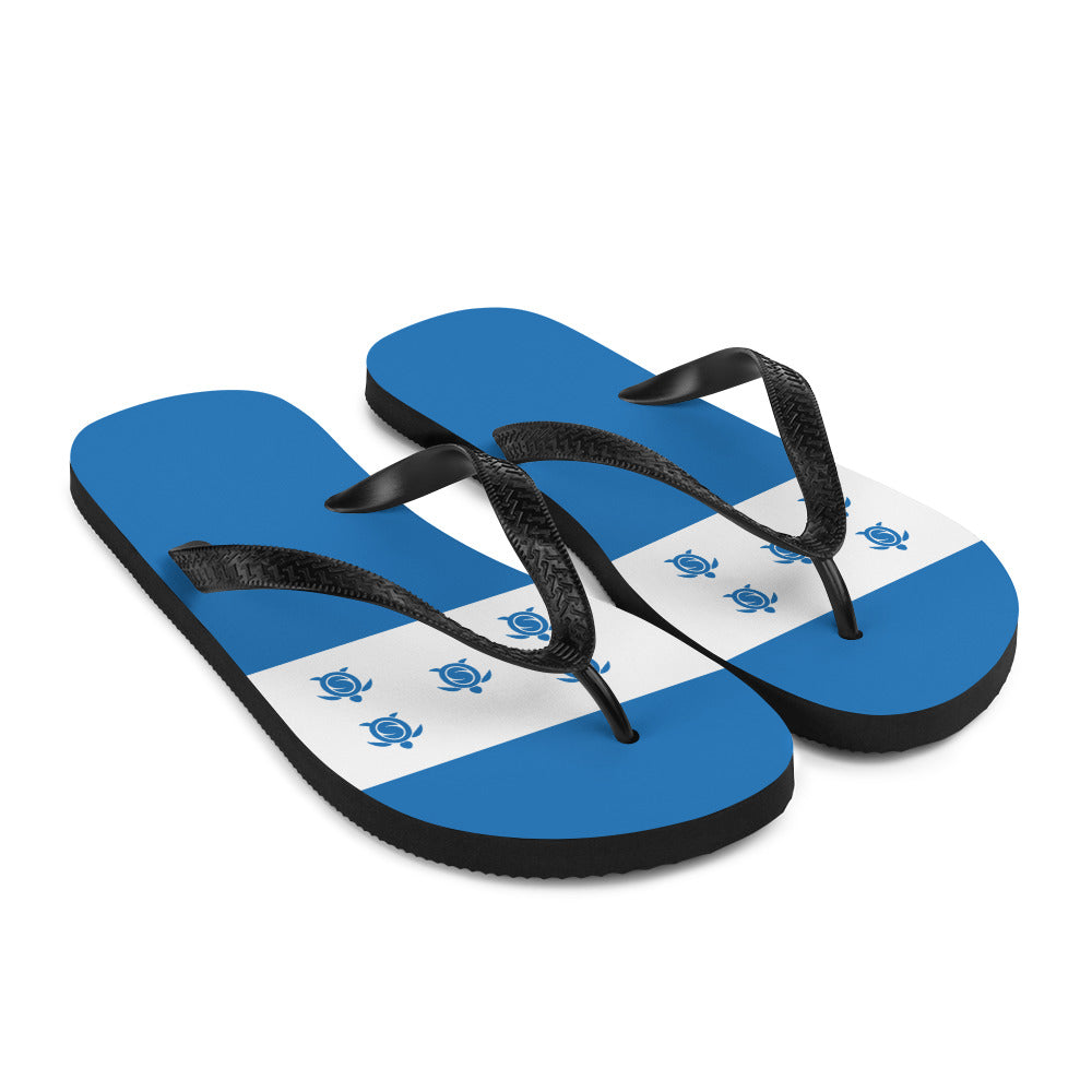 Flip-Flops Honduras Flag Colors