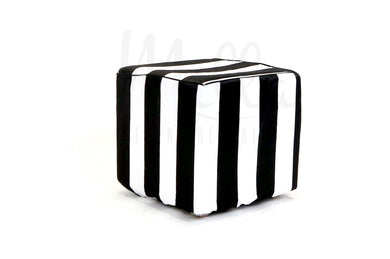 Black/White Stripe Cube