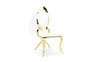 Gold X Leg Washington Chair