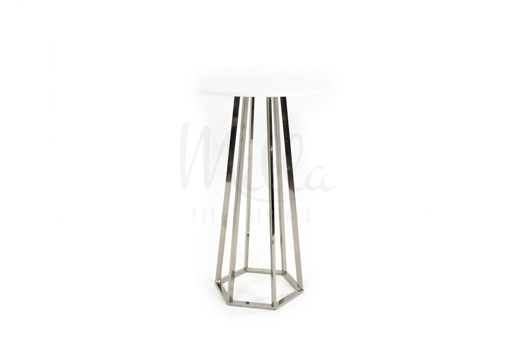 Silver Cocktail Table