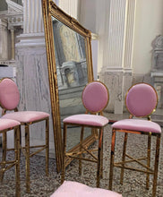 Light Pink/Gold Washington Barstool