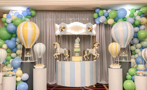 Blue Carousel Horse Cake Stand