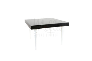 Alexa Black Table 4x4 White Legs