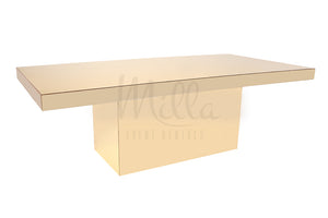 Alexa Gold Mirror Table 4x8 Gold Mirror Box Bottom