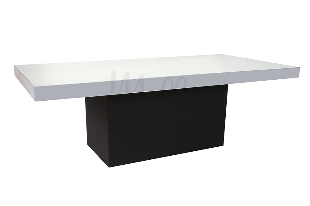 Alexa Mirror Table 4x8 Black Box Bottom
