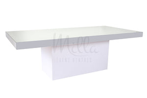 Alexa Mirror Table 4x8 White Box Bottom