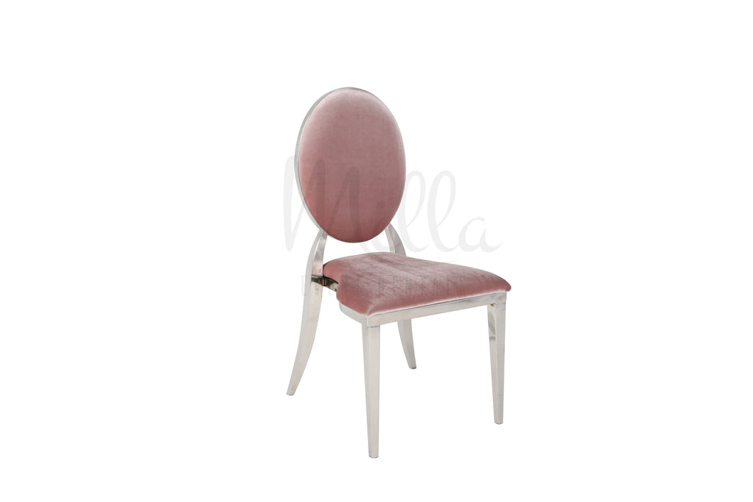 Mauve/Silver Washington Chair