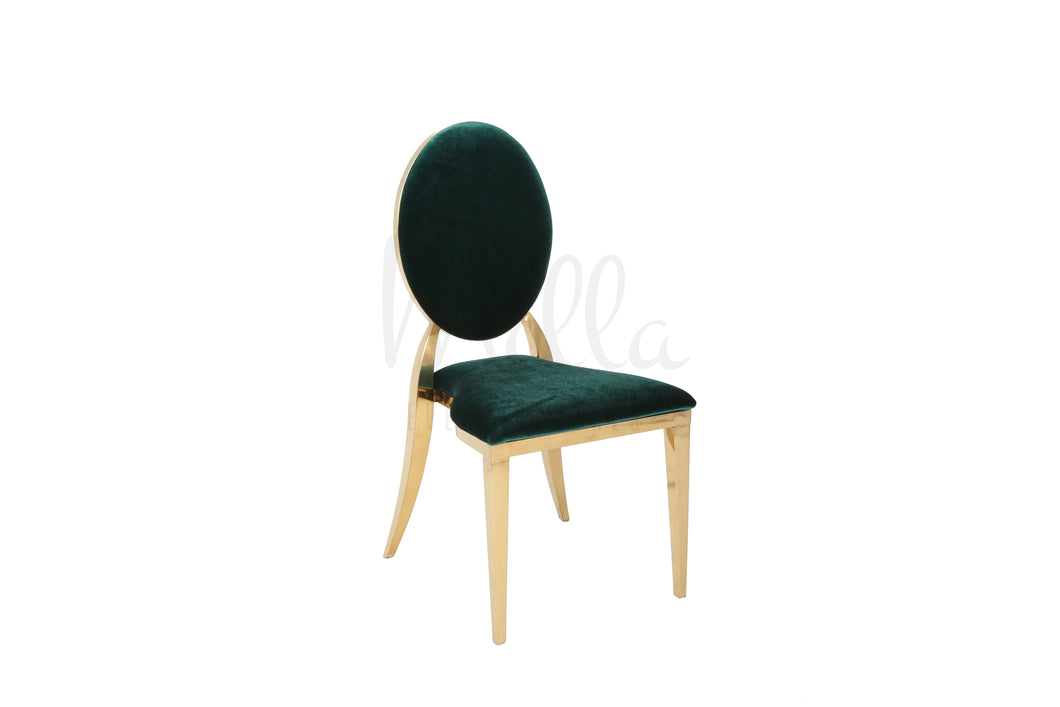 Emerald Green/Gold Washington Chair